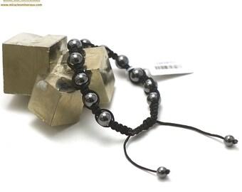 "Stone natural ""shamballa"" bracelet, hematite"