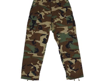 Army Issued Camo Cargo Pants - Vintage