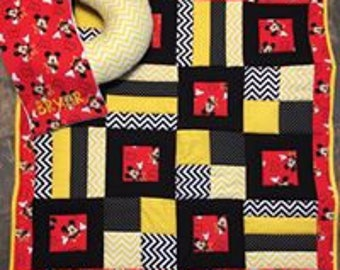 Mickey Mouse Baby Quilt Set