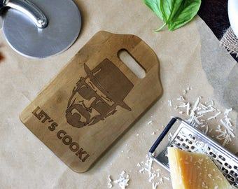 """Cutting Board - Engraved Board - """"Let's Cook"""""""