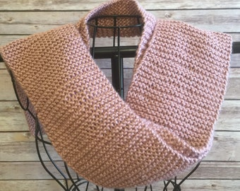 Feminine Skinny Knit Scarf (matching hat listed in shop)