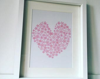 Print - Heart Made of flowers