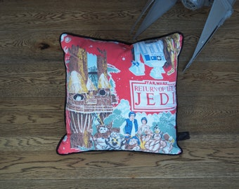 Vintage Star Wars print cushion