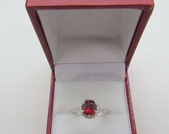 Burma Red Spinel Diamond Ring