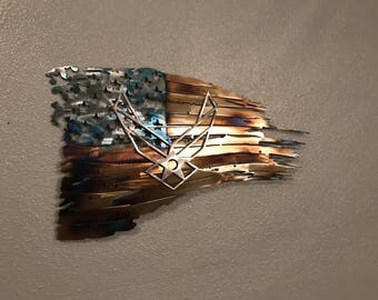 Tattered American Air Force Flag