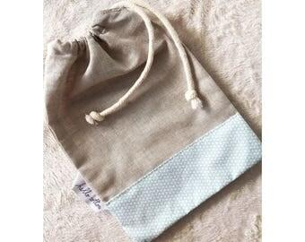 Customizable linen pouch