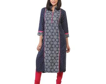 Block printed cotton kurta tunic indian ethnic