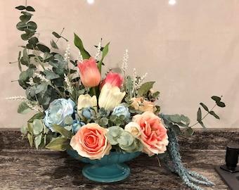 Large Spring Faux Floral Centrepiece