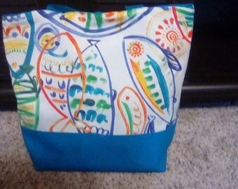 Small Teal Tote Bag