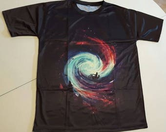 Trippy bike ride T-shirt in size L