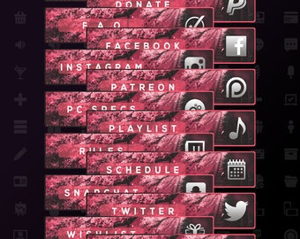 Red Cherry Blossom Profile Panel Pack