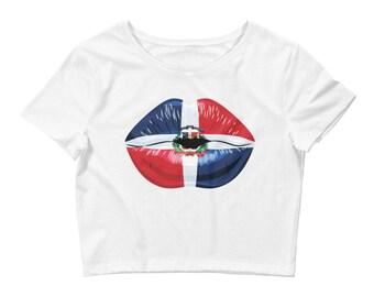 Dominican Republic crop top, Dominican Republic Flag, Dominican flag