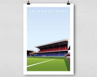 Crystal Palace Selhurst Park A3 Poster