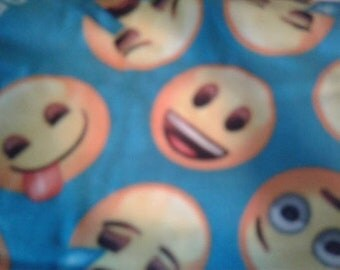 Emoji Faces Fleece Fabric by the Yard