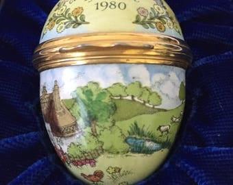 Bilston & Battersea Halcyon Days Enamel Egg - Easter 1980