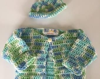 Newborn Baby Sweater and Hat