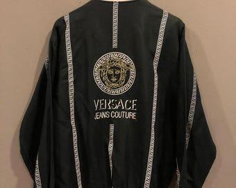 Vintage Versace Medusa Jeanscoutrure Bomber Jacket Size L