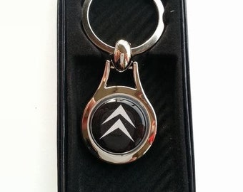 CITROEN Chrome Key Ring Fob Keyring Gift Idea