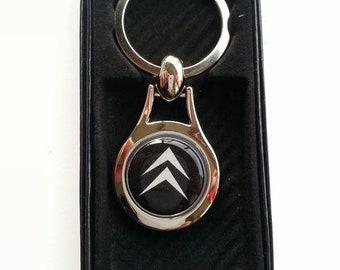 CITROEN Chrome Key Ring Fob Keyring Gift Idea