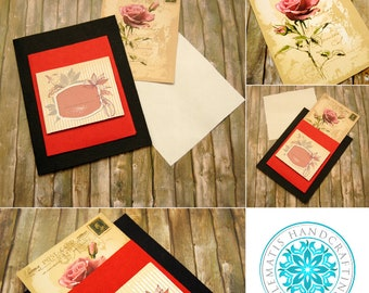 Handcrafted gift card