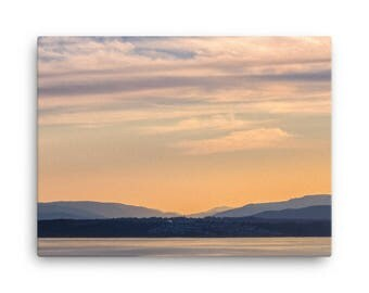 Sunset On Vancouver Island - High Quality Canvas Print