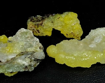 204.75 CT Unheated & Natural Yellow Brucite Rough Stone Lot