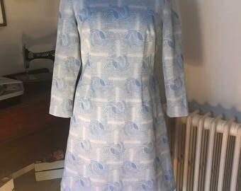 1960s pale blue dress