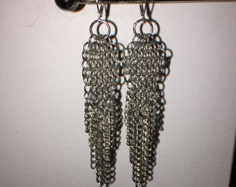 Chainmail 4 in 1 European Weave Earrings
