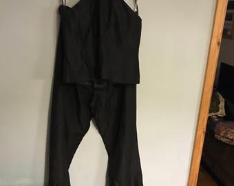 Halter neck top and trouser suit
