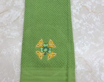 Saint Patricks Day Clover Kitchen/Bath Towels