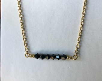 Beaded Bar Necklace/Choker