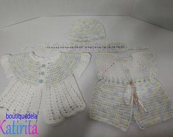 Crochet Baby Sweaters Set of 4 (NEW)