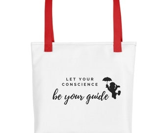 Let Your Conscience be your guide - Tote bag