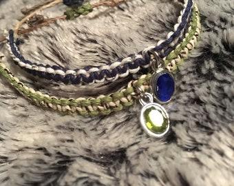 hemp bracelets or anklets!