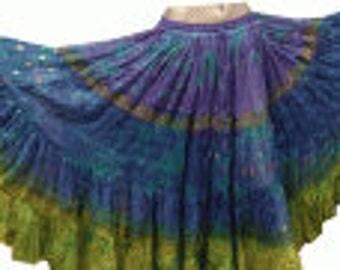 25Yard Multicolor Tribal TyeDyed Fabulous Gypsy Layer ATS Skirt~