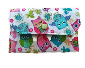 Owls, Sanitary Pad Holder,Tampon Case,Gifts for Teens, Personal Hygiene