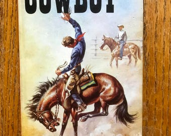 Vintage 1972 The Story of Cowboys Ladybird Book