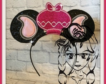 ELEPHANT MOM (3 Piece) Mr Miss Mouse Ears Headband ~ In the Hoop ~ Downloadable DiGiTaL Machine Emb Design by Carrie