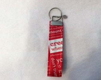 Key Fobs made from Reusable Lululemon Shopping Bags
