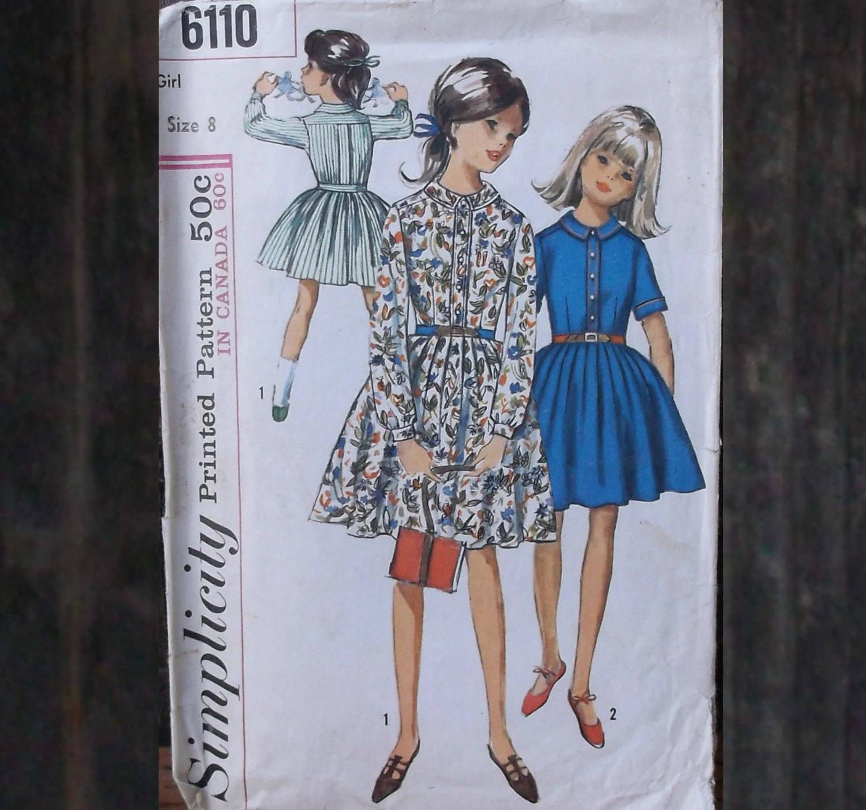50s to 60s vintage girls school dress simplicity 6110 sewing description simplicity pattern jeuxipadfo Images