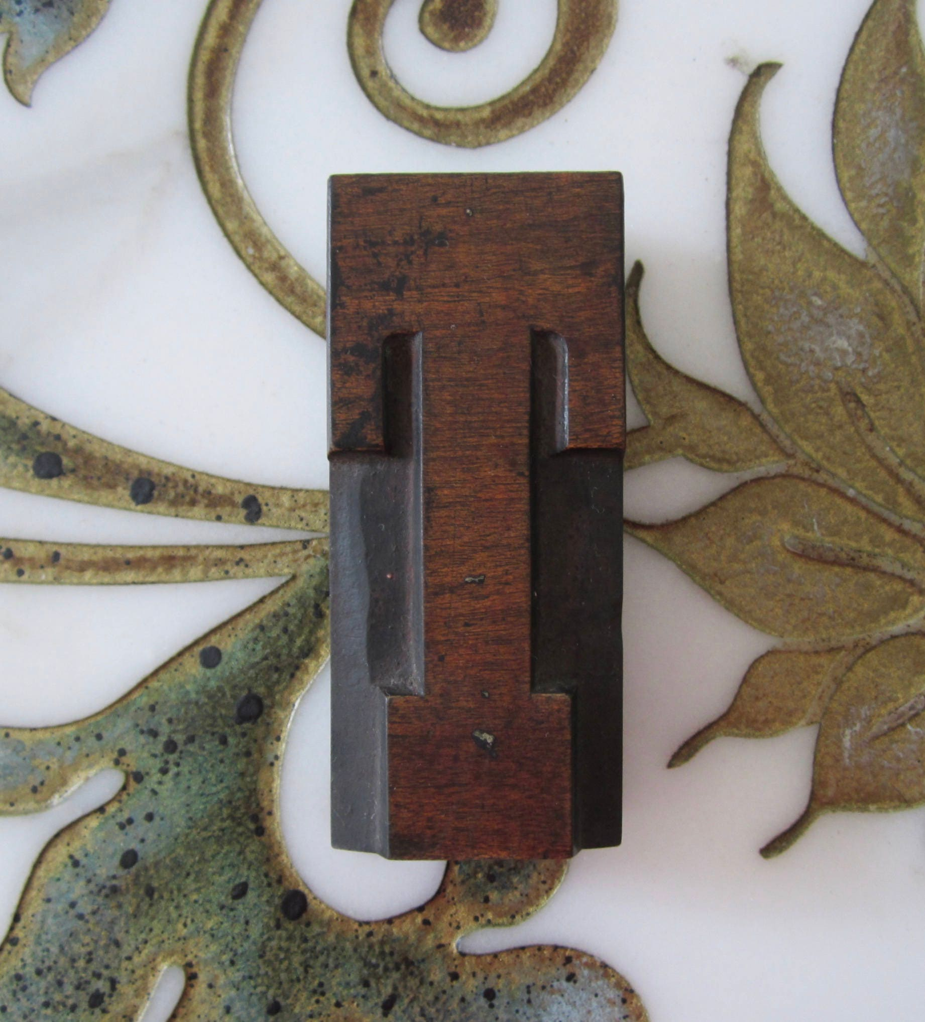 Type, Cuts & Printing Blocks Letterpress Printing Printer Block Metal Type Vintage Flowers In Basket