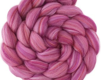 Custom Blended 100% Merino Wool Roving Top - 4 oz. BLOSSOM - Spinning Felting Fiber