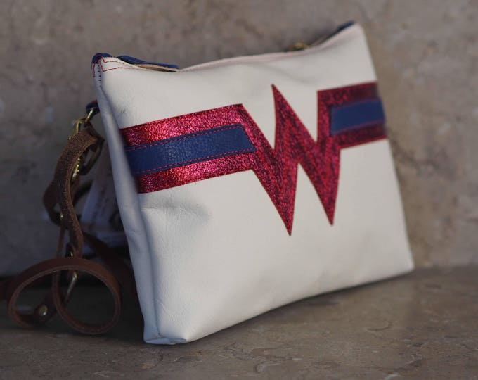 Wonder Woman inspired leather purse