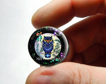 Retro Glass Owl Cabochon for Jewelry and Pendant Making - Design 18