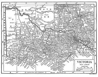 Bendigo map Etsy