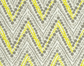 Waverly Trend Spotter Sterling Gray Yellow Chevron Home Decorating Fabric By The Yard
