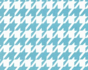 ON SALE - 10% Off Robert Kaufman Remix Houndstooth Water Blue Quilting Apparel Fabric BTY