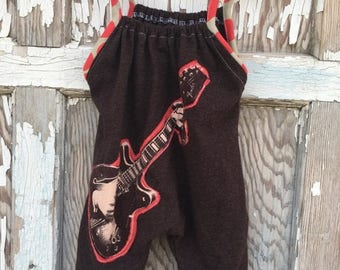 40% OFF- Whimsies Baby Romper-Eco Friendly-Guitar-T shirt Cotton-0-3m
