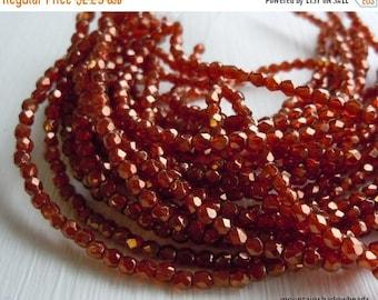 25% OFF Sale Czech 2mm Beads -  Faceted Round Czech Glass Beads Sunset Maple - 50 pcs (G - 7)