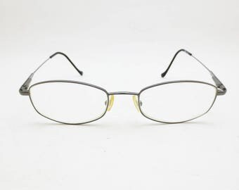 90s GUESS Eyeglasses Frames Eyewear Womens GU1007 Silver Tone Frame Vintage Retro Prescription Lenses